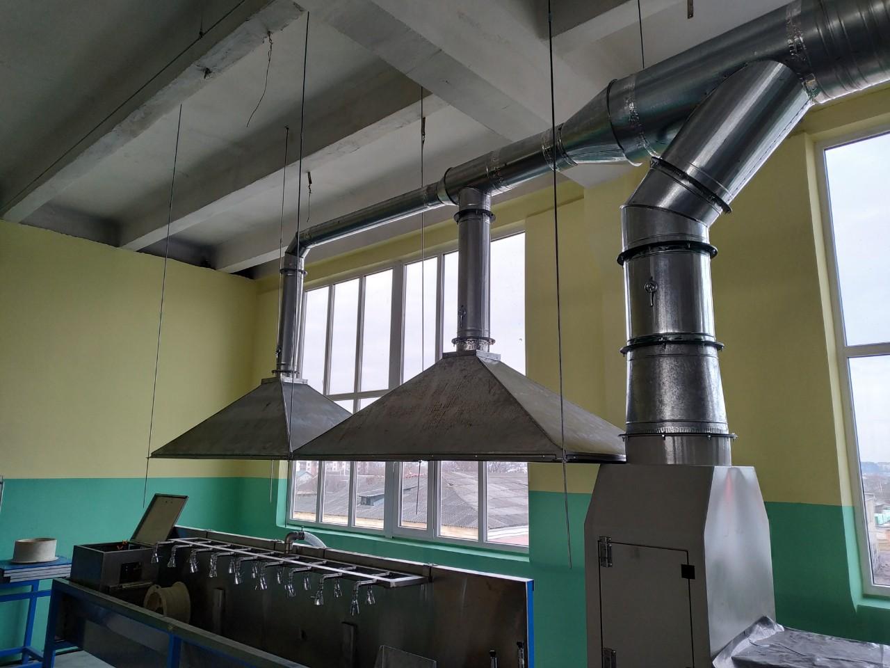 монтаж систем вентиляции на заводе