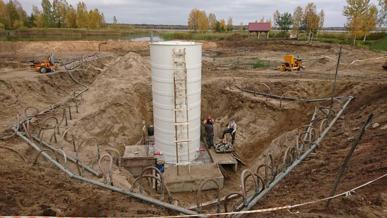 установка насосной станции пожаротушения