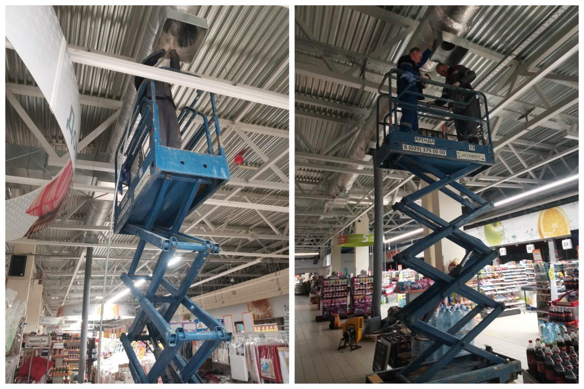 чистка вентиляции в торговом центре Гиппо